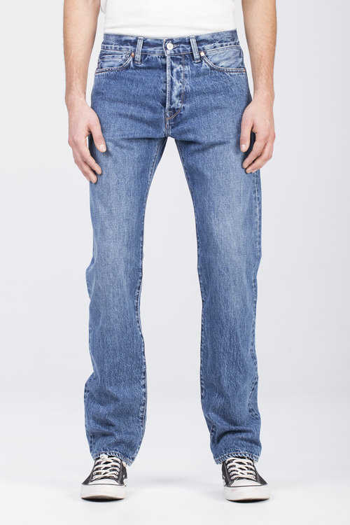 B-02 REGULAR 13 oz. medium stone BENZAK DENIM DEVELOPERS